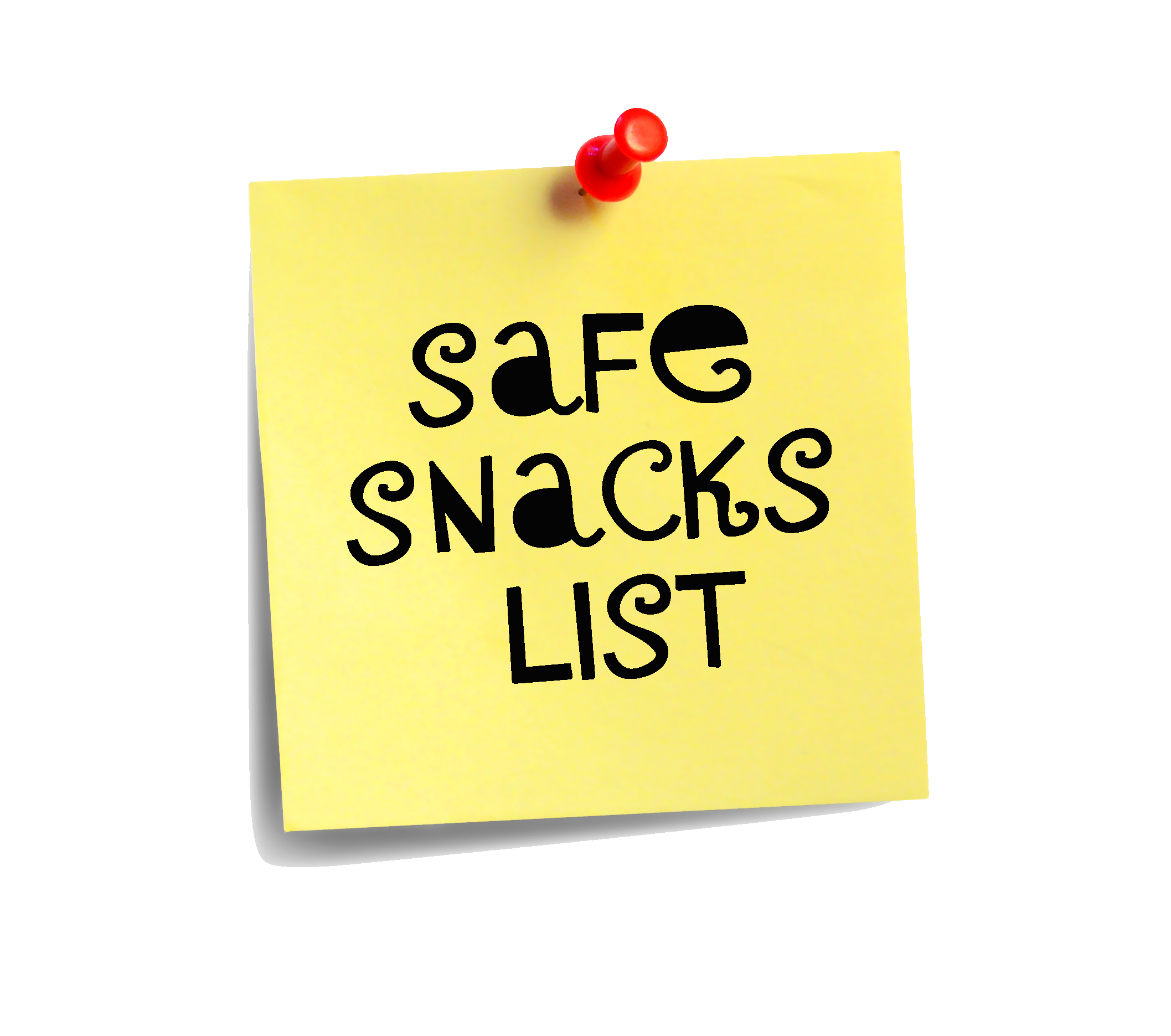 Post it note safe snacks