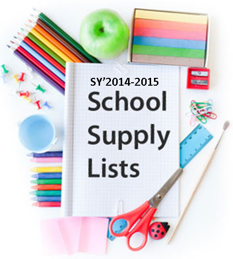 School Supplies Lists SY2014-2015